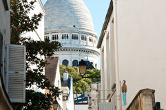 Sacre Coeur, Montmartre Paris Frankrike Royaltyfria Foton