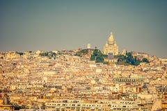 Sacre coeur, Montmartre, Paris. Sacre coeur at the summit of Montmartre, Paris Stock Photos