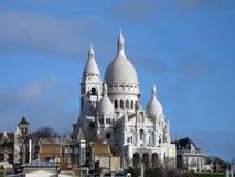 sacre coeur montmartre Paryża Obrazy Stock