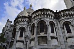 Sacre Coeur, Montmatre Paris France. Facade details. Facade details of the Basilica of the Sacred Heart in Montmartre, Paris, commonly known as Basilique du royalty free stock photography