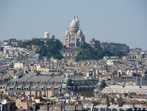 Sacre Coeur from musée d'Orsay Royalty Free Stock Images