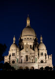 Sacre Coeur at night Stock Images