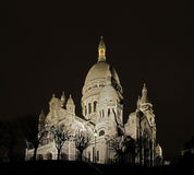 The sacre-coeur by night Royalty Free Stock Photo