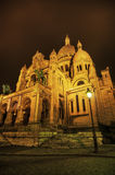 Sacre Coeur at night Royalty Free Stock Images