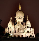 The Sacre Coeur by night. Night view of the Historic Sacre Coeur in Paris, France Royalty Free Stock Photos