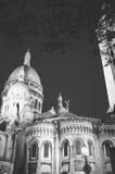 Sacre Coeur. At night, Paris, France Stock Images