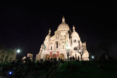 Sacre Coeur by night Royalty Free Stock Image