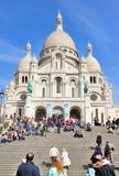 Sacre Coeur a Parigi, Francia Immagine Stock Libera da Diritti