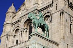 Sacre Coeur a Parigi, Francia, il 15 novembre 2015 Immagini Stock