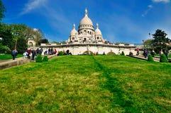 Sacre Coeur in Parijs, Frankrijk Royalty-vrije Stock Foto's