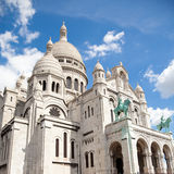 Sacre Coeur of Paris. Sacre Coeur Basilique at a summer day. Paris Royalty Free Stock Photo