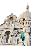 Sacre-Coeur in Paris. Beautiful architecture of the famous basilica of Sacre-Coeur in Paris against white background royalty free stock photography