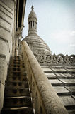 Sacre Coeur Paris. Steps up to the top of the Sacre Coeur Church Stock Photography