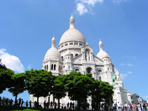 Sacre-coeur of paris. Sacre coeur famous catholic basilica of paris Stock Photos