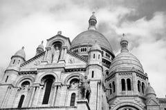 Sacre Coeur, Paris. Cathedral of Sacre Coeur at Montmartre, Paris Stock Photos