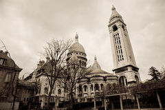 Sacre Coeur, Paris. A view of the back of the Sacre Coeur Cathedral in Paris, France stock photography