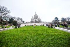 Sacre-Coeur, Paris - 16 de março de 2015: os povos vão a Sacre-Coeur mim Fotografia de Stock Royalty Free