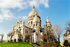 Sacre Coeur, Paris France. The Basilica of the Sacred Heart of Paris, commonly known as Basilique du Sacre Coeur, Paris Stock Photos