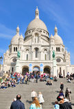 Sacre Coeur in Paris, France. The Church of Sacre Coeur (blessed heart) in the neighbourhood of Montmartre in Paris, France royalty free stock image
