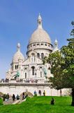Sacre Coeur in Paris, France stock photo