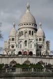 Sacre Coeur, Paris Frankrike Arkivfoton