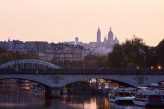 Sacre Coeur, Paryski wczesny poranek Obraz Royalty Free