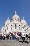 Sacre Coeur people Royalty Free Stock Photos