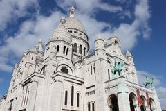 Sacre coeur. This photo is taken at the sacre  coeur Stock Image