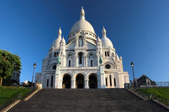 Sacre coeur at the submit of Montmartre, Paris royalty free stock photos