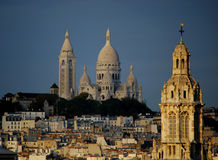 Sacre Coeur on the hill Royalty Free Stock Photos