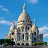 Sacre-Coeur temple on a hill in paris france royalty free stock photo