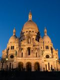 The Sacre Coeur at twilight. General view of the Sacre Coeur Basilica at twilight - Montmartre, Paris, France royalty free stock image