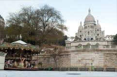 Sacre coeur under Snow - Montmartre - Paris Stock Photo