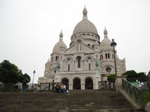 Sacre Coeur. The white marble Sacre Coere reigns on Montmarte overlooking Paris Stock Photos