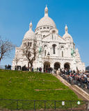 Sacre-cor called French church in Paris Royalty Free Stock Photography