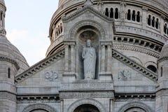 Sacre Couer,蒙马特,巴黎,法国 免版税库存照片