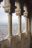 Sacre Couer Balcony Royalty Free Stock Image