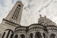 Sacre Couer Basilica in Paris, France Royalty Free Stock Image