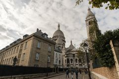 Sacre Couer Basilica in Paris, France, viewed from the back Royalty Free Stock Photos