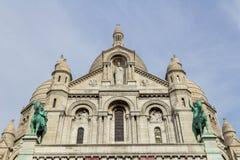 Sacre Couer bazylika przy Montmartre w Paryż Fotografia Royalty Free