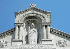 Sacre Couer, Jesus staty i Paris royaltyfria bilder