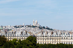 Sacre Couer on Montmartre Stock Images