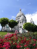 Sacre Cour in Paris, France. The famous church of Sacre Cour in Montmartre royalty free stock photography