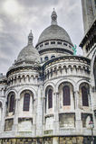 Sacre Cueur Cathedral in Paris, France. High dynamic range image of the beautiful Sacre Cueur Cathedral (Basilica of the Sacred Heart of Paris) in Paris, France Stock Image