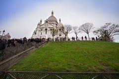 sacre paris montmartre coeur базилики Стоковые Изображения
