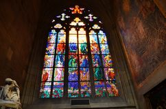 Sacred art in the cathedral of Prague. Old sacred art in the cathedral of Prague royalty free stock image