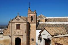 Sacred art museum, Osuna, Spain. Elevated view of the museum of sacred art, Incarnation Monastery (Monasterio de la Encarnacion), Osuna, Seville Province stock photography