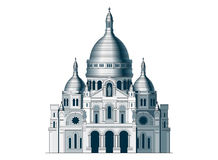 The sacred basilica Sacre Coeur in France - 2 Royalty Free Stock Photo
