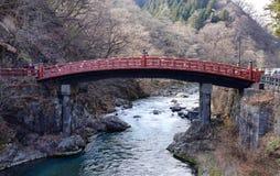 The Sacred Bridge, part of the Futarasan Shrine in Nikko, Japan Stock Photography