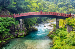 Sacred bridge Shinkyo Royalty Free Stock Images